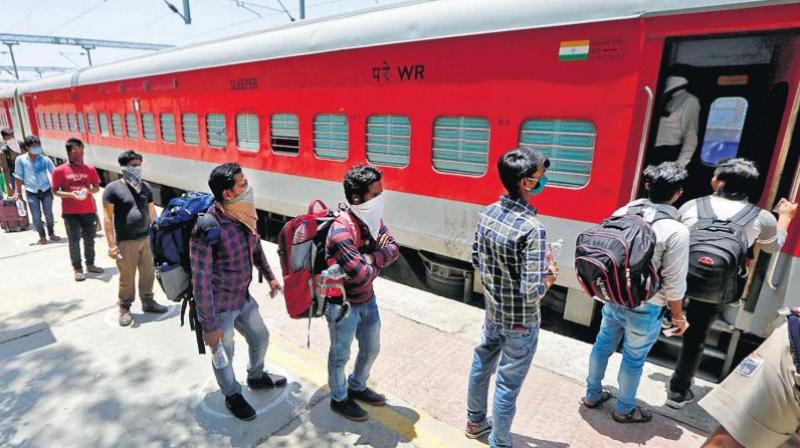 Migrants to return home in special trains. (PTI Photo)