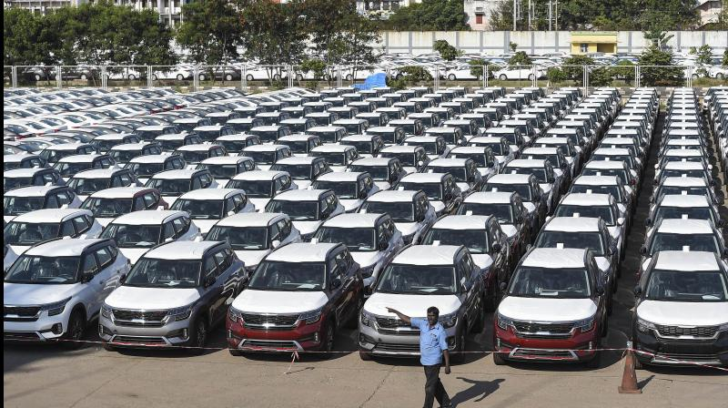 India's automakers have warned that total automobile sales could fall as much as 45% in the current fiscal year. (PTI Photo)