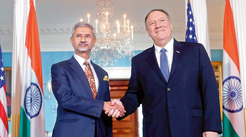 Pompeo holds video conference with counterparts from India. (PTI Photo)