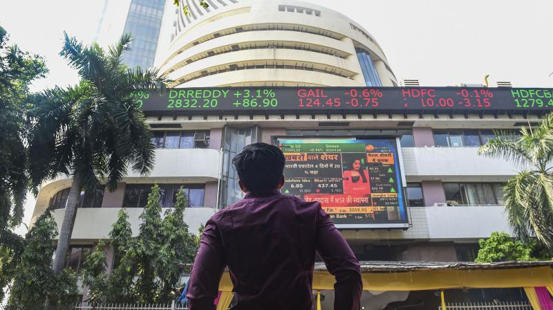 Sensex zooms over 1,400 pts on PM Modi's Rs 20 lakh cr economic booster. (PTI Photo)