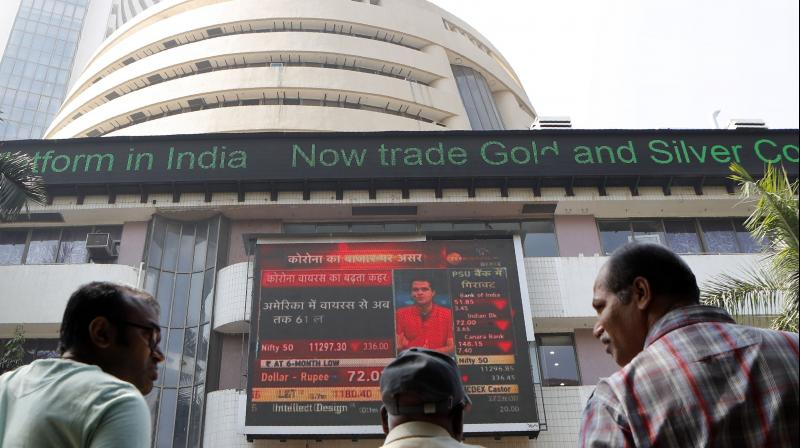 Equity benchmark Sensex plunged 886 points on Thursday. (PTI Photo)