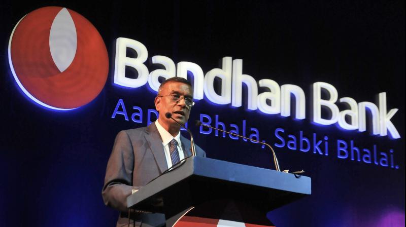 Kolkata: Bandhan Bank Managing Director & CEO Chandra Shekhar Ghosh . (PTI Photo)