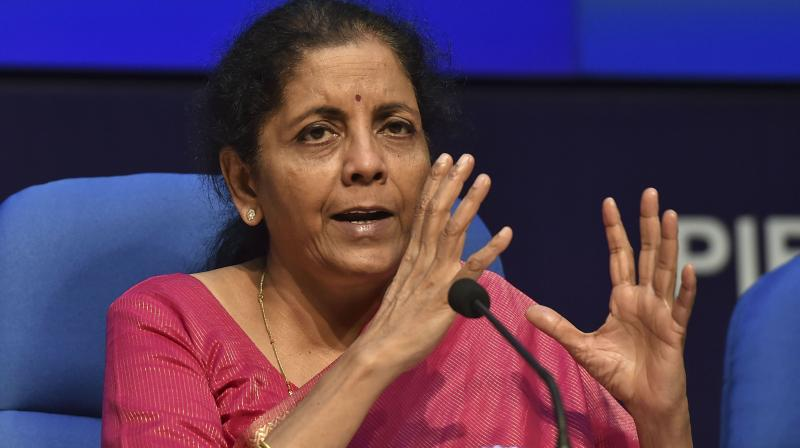 Union Finance Minister Nirmala Sitharama. (PTI Photo)