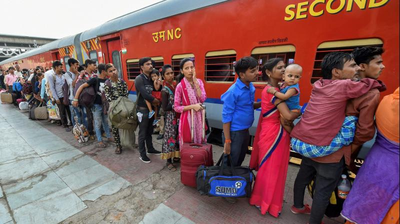 Nearly 2.45 lakh migrant labourers have been sent in 192 trains to various states. (PTI Photo)