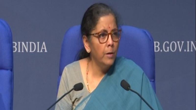 Union Finance Minister Nirmala Sitharaman. (ANI Photo)