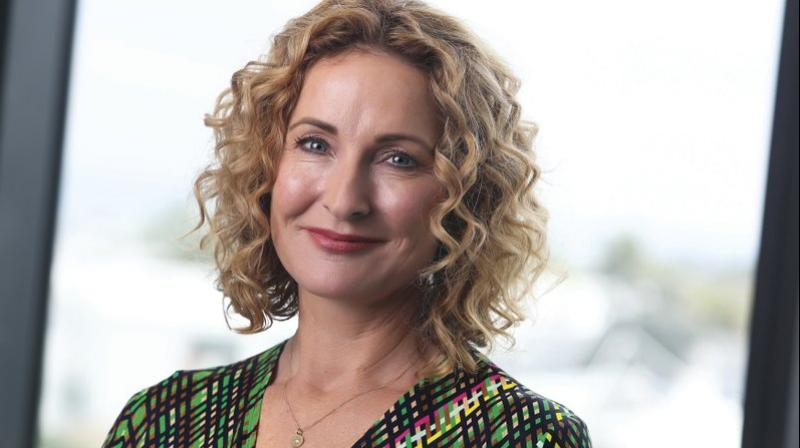 This image provided by Stuff, shows CEO Sinead Boucher in Auckland, New Zealand Nov. 28, 2019. Stuff, one of New Zealand's largest media organizations has been sold for a single dollar to the chief executive, Sinead Boucher in a management buyout that would be completed by the end of the month. (AP Photo)