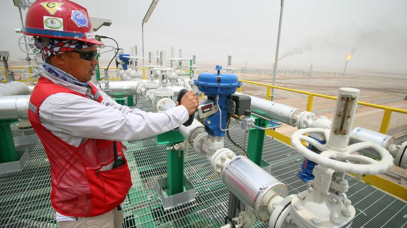 Oil prices slip as wary traders eye upcoming OPEC+ meeting. (AFP Photo)