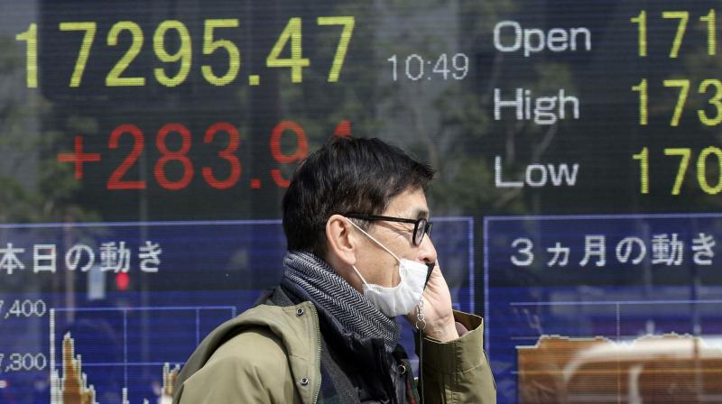 Asia's stock rally pause ahead of U.S. jobs data. (AFP Photo)