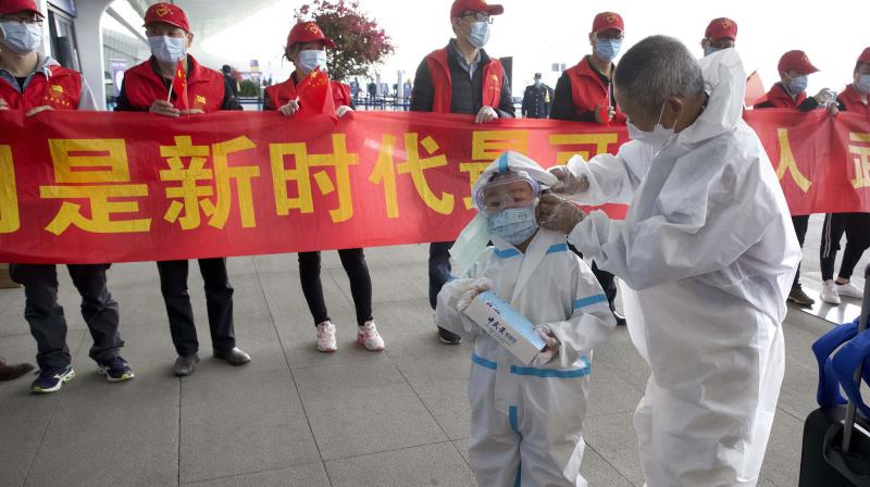 China's Wuhan city discharges last three COVID-19 patients from hospital. (AFP Photo)