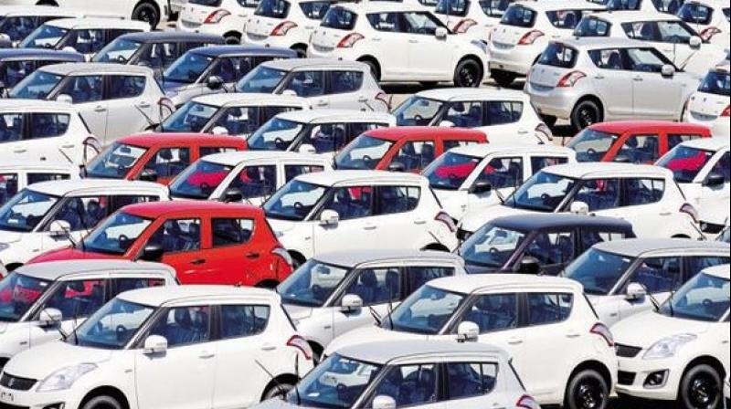 Automobile registrations in May down 89 percent due to COVID-19 lockdown. (ANI Photo)