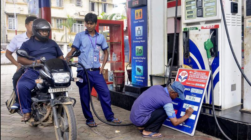 Petrol, diesel rates up by more than Rs 4 in 8 days. (PTI Photo)