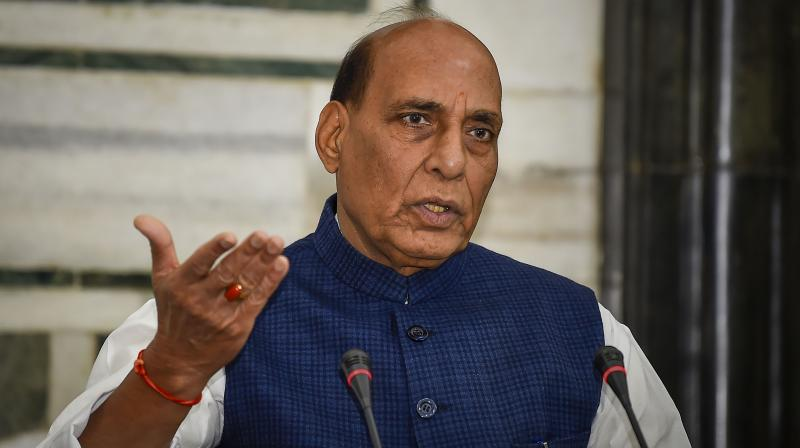 Defence Minister Rajnath Singh said on Sunday that India will never compromise on its national pride. (PTI Photo)
