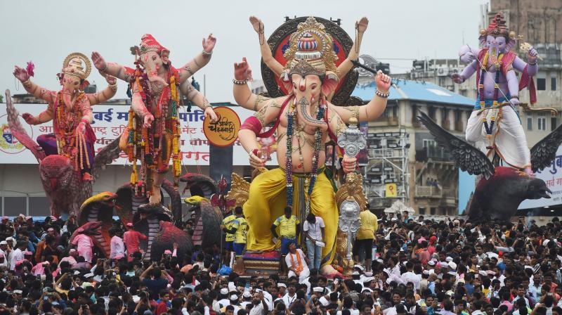 Ganeshotsav, the most popular festival in Maharahstra, will be a low-key affair this year due to Covid-19 pandemic. (PTI photo)