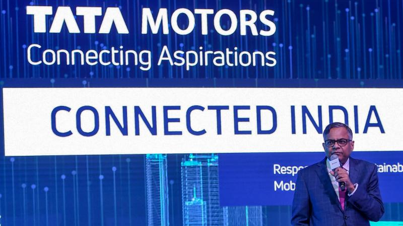 Chairman of Tata Sons and Tata Motors, Natarajan Chandrasekaran. Moody's downgrades Tata Motors to B1. (AFP Photo)