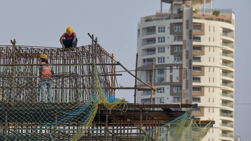 Indian house prices will fall for the first time in at least a decade in 2020. (AFP Photo)
