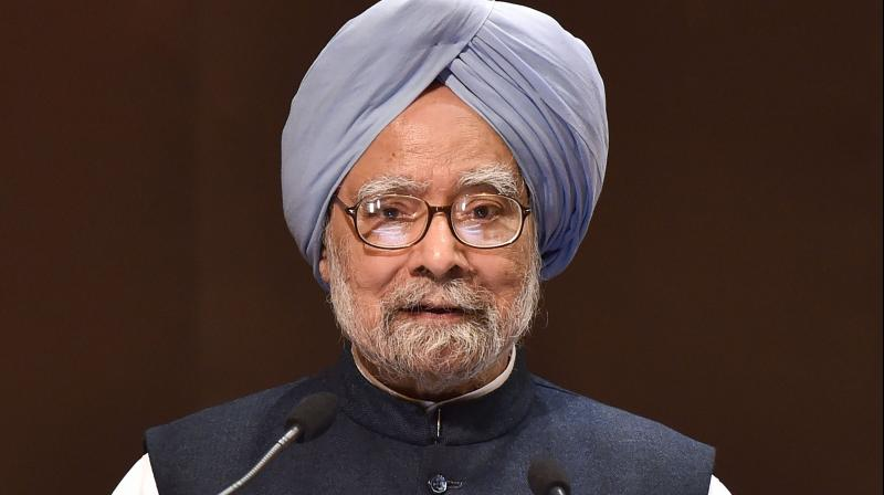 Former Prime Minister and senior Congress leader Manmohan Singh. (PTI Photo)