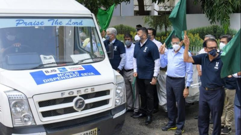 BMC will run 50 mobile dispensary vans which will go to different localities to conduct preliminary check-ups in Mumbai. (Photo- BMC twitter)
