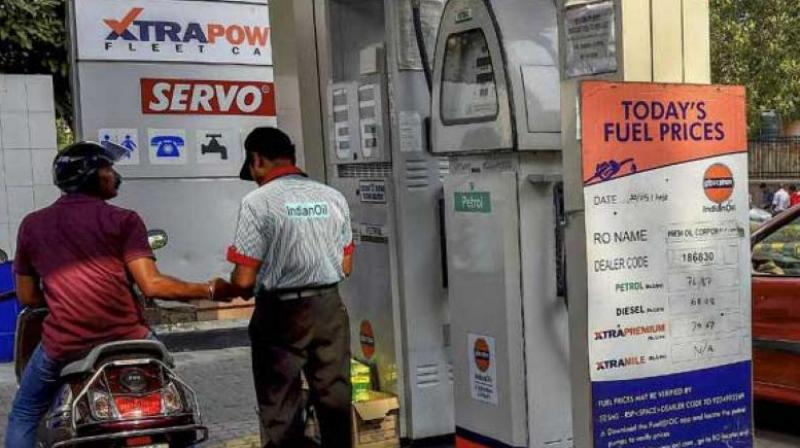 Petrol price on Tuesday was hiked by 20 paise per litre and diesel by 55 paise. (PTI Photo)