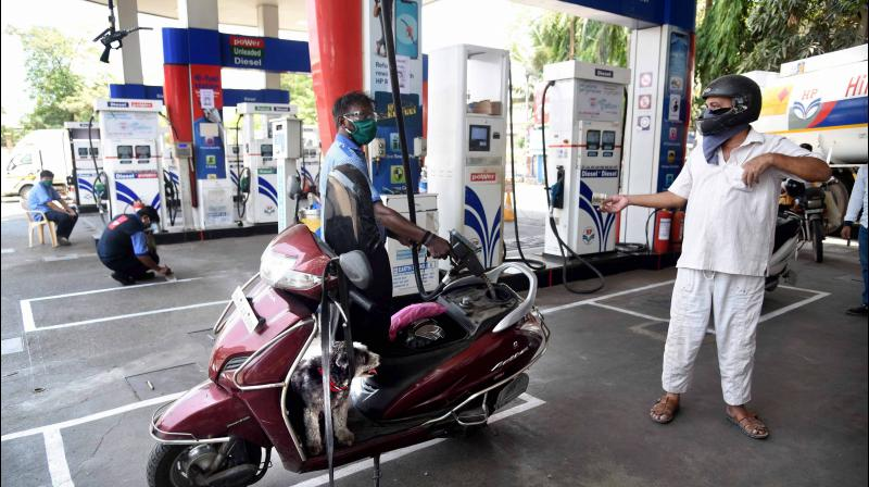 Diesel price has surpassed the petrol as fuel rate hiked for the 18th day in a row. (PTI Photo)