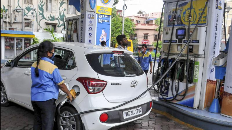 Petrol price in the national capital on Friday crossed Rs 80 per litre mark. (PTI Photo)