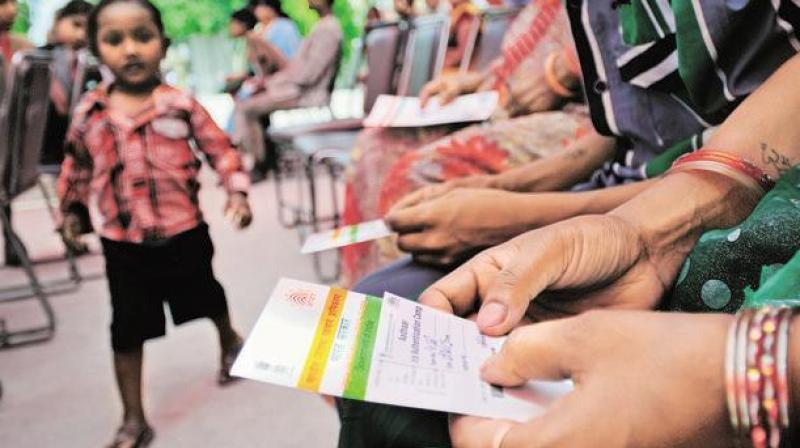 Irdai on Wednesday said linkage of the unique identity number Aadhaar with insurance policies is mandatory. (Photo: PTI)