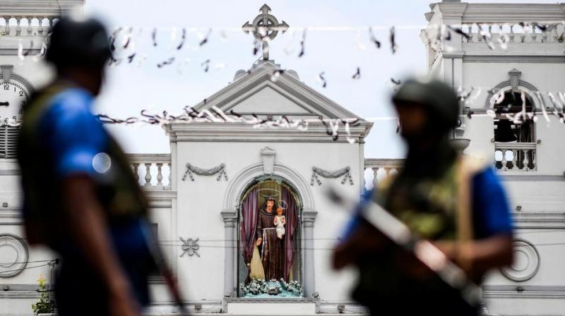 The blasts targeted St Anthony's Church in Colombo, St Sebastian's Church in the western coastal town of Negombo and a church in the eastern town of Batticaloa when the Easter Sunday mass was in progress on April 21, 2019. (AFP Photo)