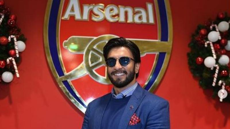Premier League India official's handle on Monday shared a video of Bollywood actor Ranveer Singh singing famous track from 'Gully Boy' to get the fans all excited for the clash between Arsenal and Manchester United in the competition. (Photo: Premier League India/Instagram)