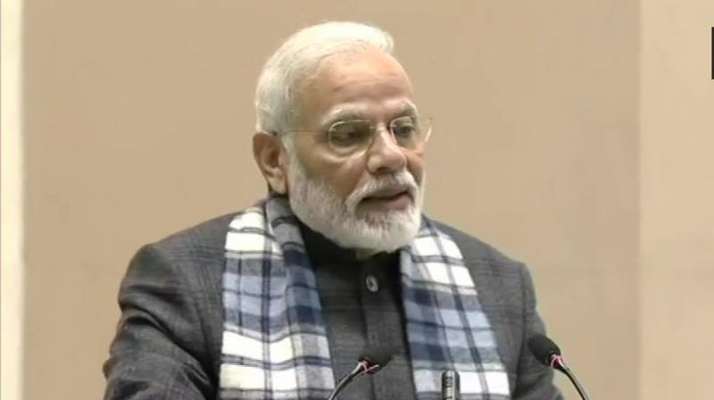 The Prime Minister asserted that his government took steps to stabilise the economy that was heading for a disaster in the last five years. (Photo: ANI)