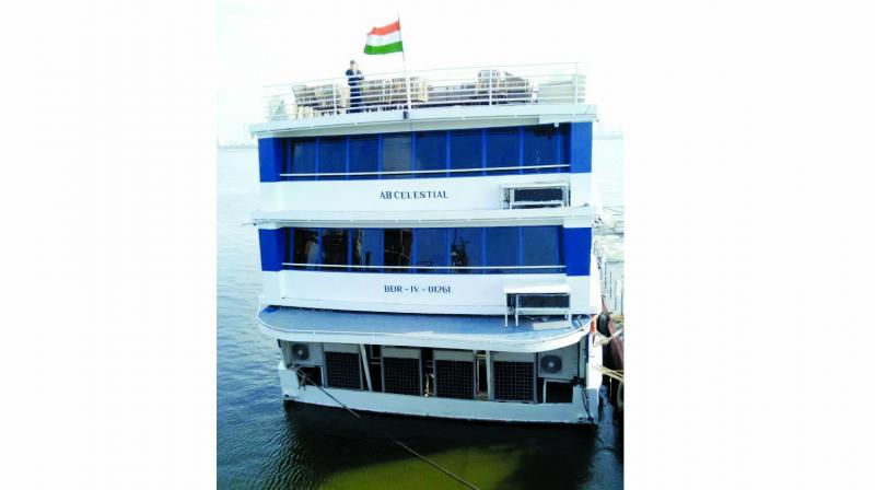 The floating hotel was manufactured in the U.S.