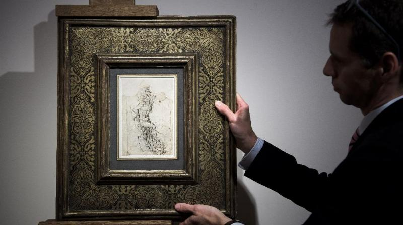 The lost painting was found in the papers of a French provincial doctor (Photo:AFP)