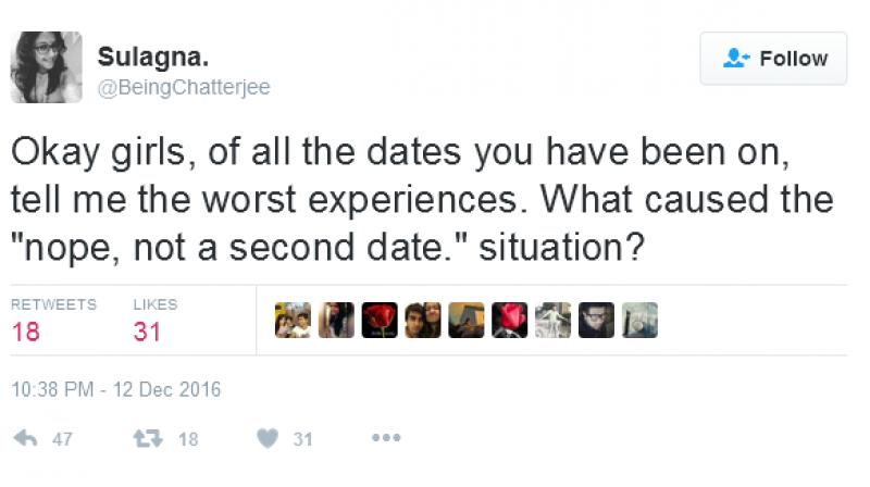 Twitter user Sulagna's tweet that started the hilarious replies (Photo: Twitter/@BeingChatterjee)