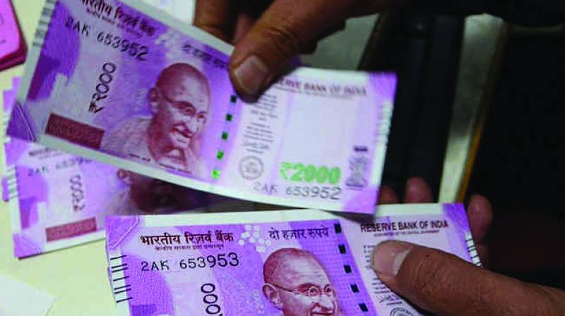 At the interbank foreign exchange, the rupee opened on a weak note at 69.10, but gathered momentum and rose to a high of 69.00 against the US dollar.