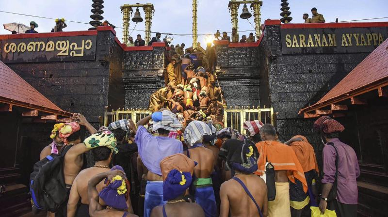 A division bench of Justices Ramachandra Menon and N Anil Kumar said its earlier order that there should not be any protest in Sabarimala stands intact. (Photo: File)