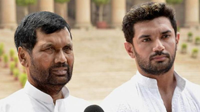 LJP leader and Paswan's son Chirag tweeted on Tuesday that the party would release the first list of candidates by evening. In 2014, the LJP had contested only one seat and lost. (Photo: PTI)