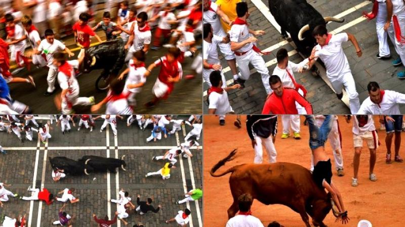 Revelers from around the world flock to Pamplona every year to take part in the eight days of the running of the bulls (Photo: AP)