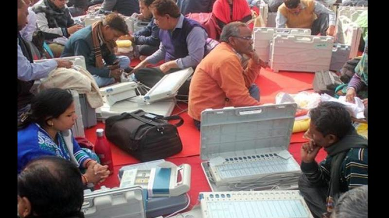 BSP and SP accused the BJP of tampering with the Electronic Voting Machines (EVMs) in the civic polls. (Photo: PTI   File)