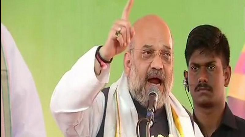 Amit Shah also said that there is zero tolerance on terrorism and Pulwama terror attack would be avenged. (Photo: ANI)