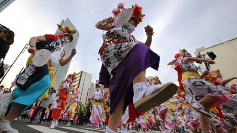 Six major traditional festivals of Japan's northeastern region of Tohoku were showcased to Tokyoites and tourists during the new two-day Shintora festival. (Photo: AP)