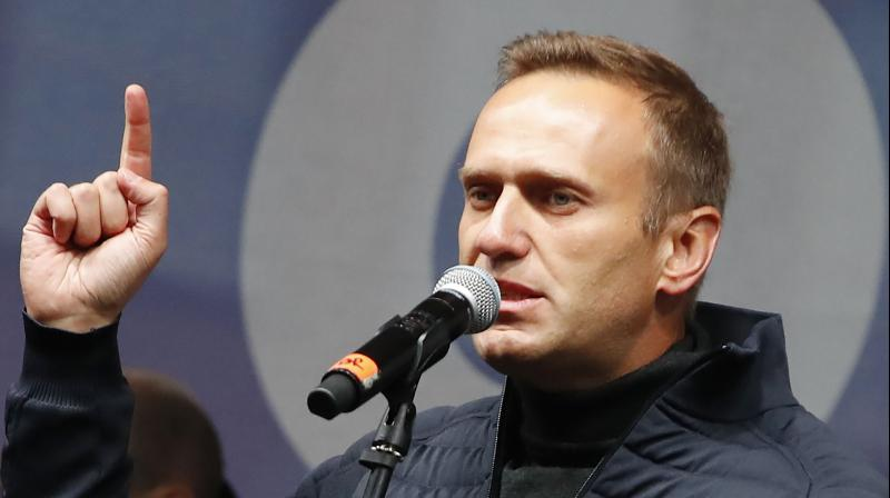 Alexei Navalny. Navalny's aides said that Navalny's team collected the bottle and other items that may have left toxin traces in the hotel room after hearing he fell ill.(AP File Image)