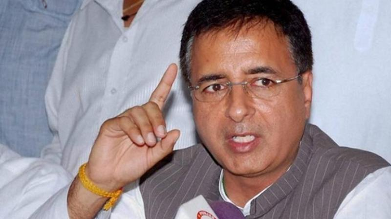 'The Yeddiyurappa government is an 'illegitimate' government in terms of law and constitution and should be dismissed immediately,' Congress spokesperson Randeep Surjewala said on Twitter. (Photo: File)