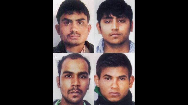 File photos of the four Nirbhaya gang rape case convicts (clockwise from top left) Akshay Thakur, Pawan Gupta, Vinay Sharma and Mukesh Singh.