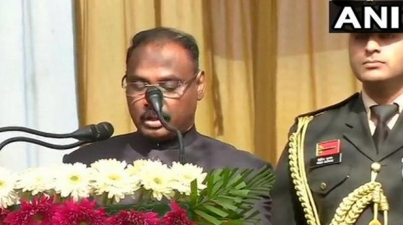 The warrant of appointment of Murmu, a 1985 batch IAS officer from Gujarat, was read out by Chief Secretary B V R Subrahmanyam. (Photo: ANI)