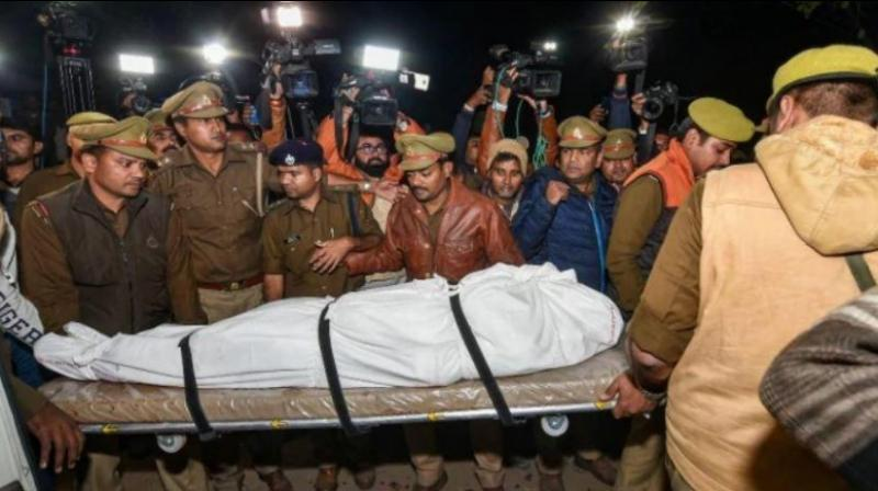 The 23-year-old Unnao rape victim, who was airlifted to Delhi and admitted to Safdarjung Hospital with 90 per cent burns after being set on fire, died following a cardiac arrest on December 6, 2019. (Photo: PTI)