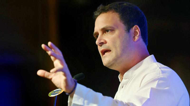In reference to the alleged involvement of a BJP MLA in Unnao rape case, Congress chief Rahul Gandhi said, 'Modi's earlier slogan of 'Beti Bechao, Beti Padhao' (Save daughters, educate them) had become 'Beti bachao' (Save daughters) from the BJP and its leaders.'  (Photo: PTI)