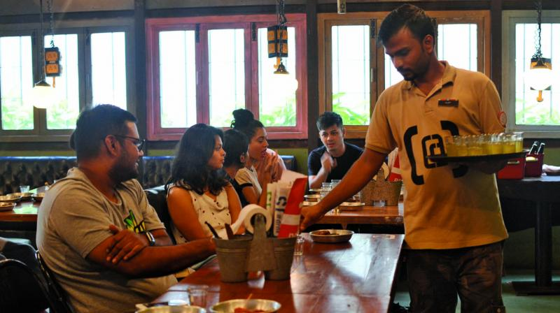 A mead tasting session at Khar Social