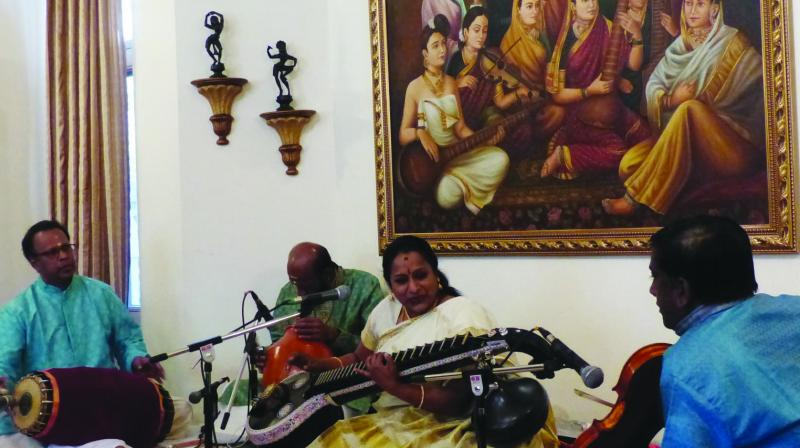 Nirmala Rajasekar at the concert (Photo: AVINASH PASRICHA)