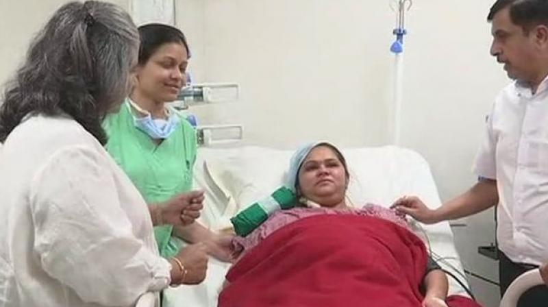 After the transplant surgery, Meenakshi Walan conceived through in-vitro fertilisation (IVF) method, doctor said. (Photo: Twitter | ANI)