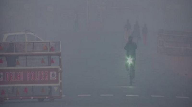 An AQI between 0-50 is considered good, 51-100 is satisfactory, 101-200 moderate, 201-300 poor, 301-400 very poor and 401-500 is marked as severe/hazardous. (Photo: ANI)