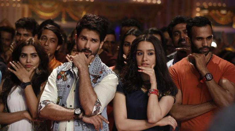 Shahid Kapoor and Shraddha Kapoor on the sets of 'Batti Gul Meter Chalu'.