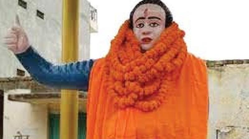 """Ms Devi applied a """"tilak"""" on the statue and then wrapped it in a saffron shawl. A priest, who accompanied the MLA, recited mantras on the occasion."""